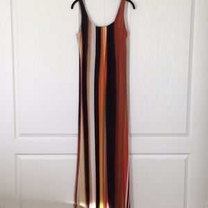 Glamour Multi-colored Maxi Dress